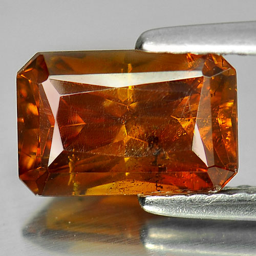 Certified 2.42 Ct. Nice Octagon Natural Gem Yellow Sphalerite Unheated
