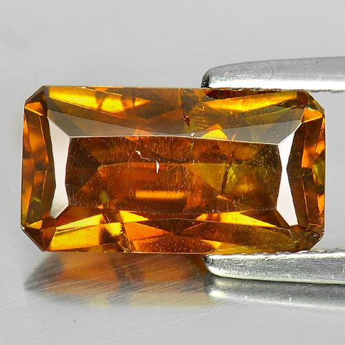 Certified 3.16 Ct. Octagon Natural Gem Yellow Sphalerite Unheated