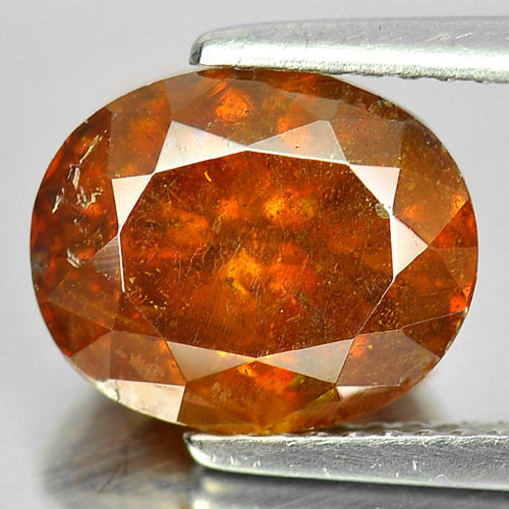 Certified 5.39 Ct. Oval Shape Natural Gem Yellow Sphalerite Unheated