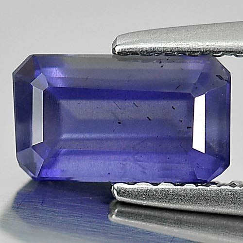 0.90 Ct. Good Octagon Natural Gem Violet Blue Iolite Madagascar