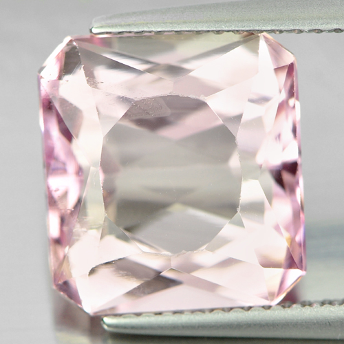 8.05 Ct. Charming Octagon Shape Natural Gemstone Light Pink Kunzite Afghanistan