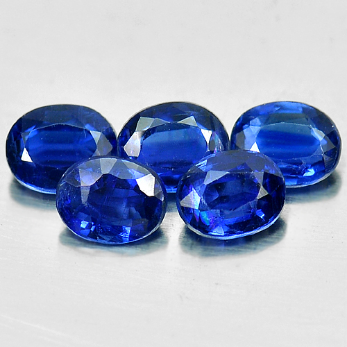 2.24 Ct. 5 Pcs. Oval Shape Natural Blue Kyanite Unheated Gemstones