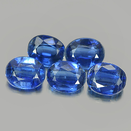 2.80 Ct. 5 Pcs. Oval Shape Natural Blue Kyanite Unheated Gemstones