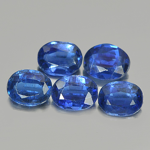 2.10 Ct. 5 Pcs. Oval Shape Natural Blue Kyanite Unheated Gemstones