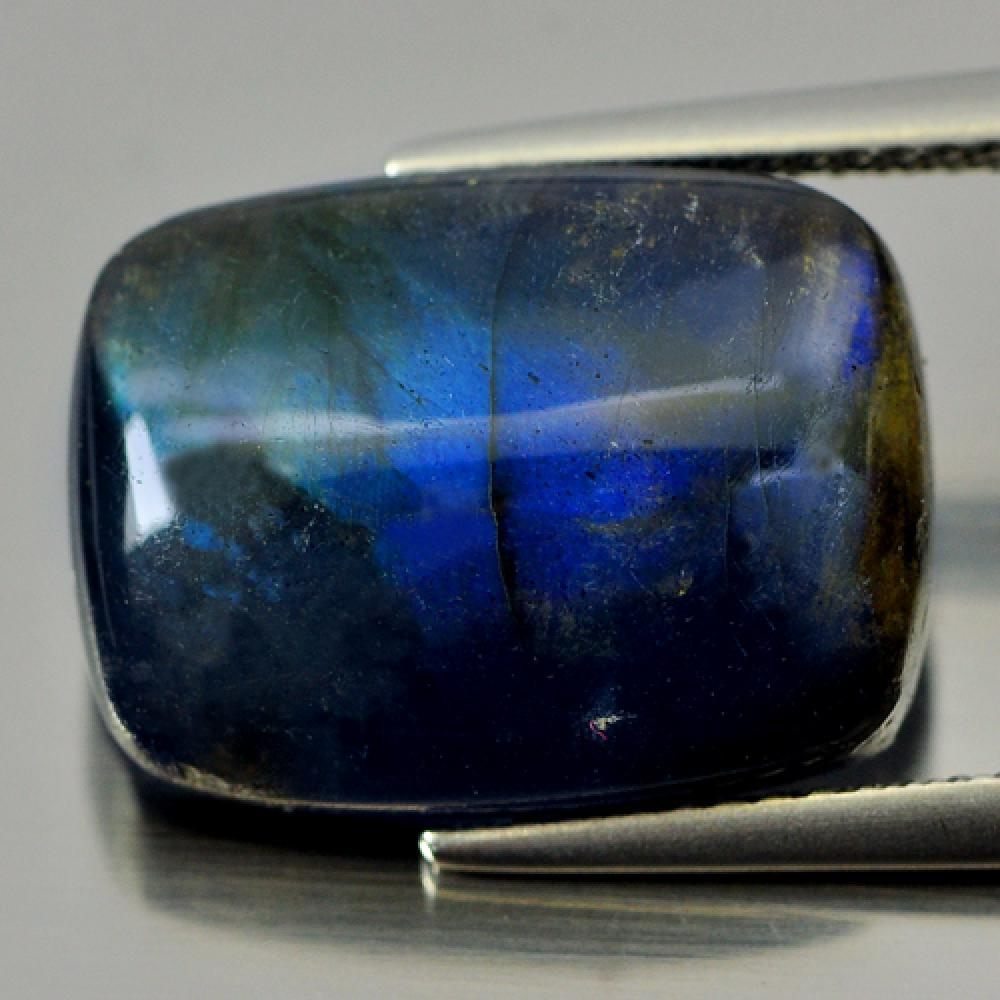 9.26 Ct. Baguette Cab Multi Color Blue Natural Gem Labradorite Doublet