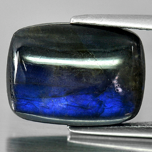 8.82 Ct. Baguette Cab Multi Color Blue Natural Labradorite Doublet Unheated