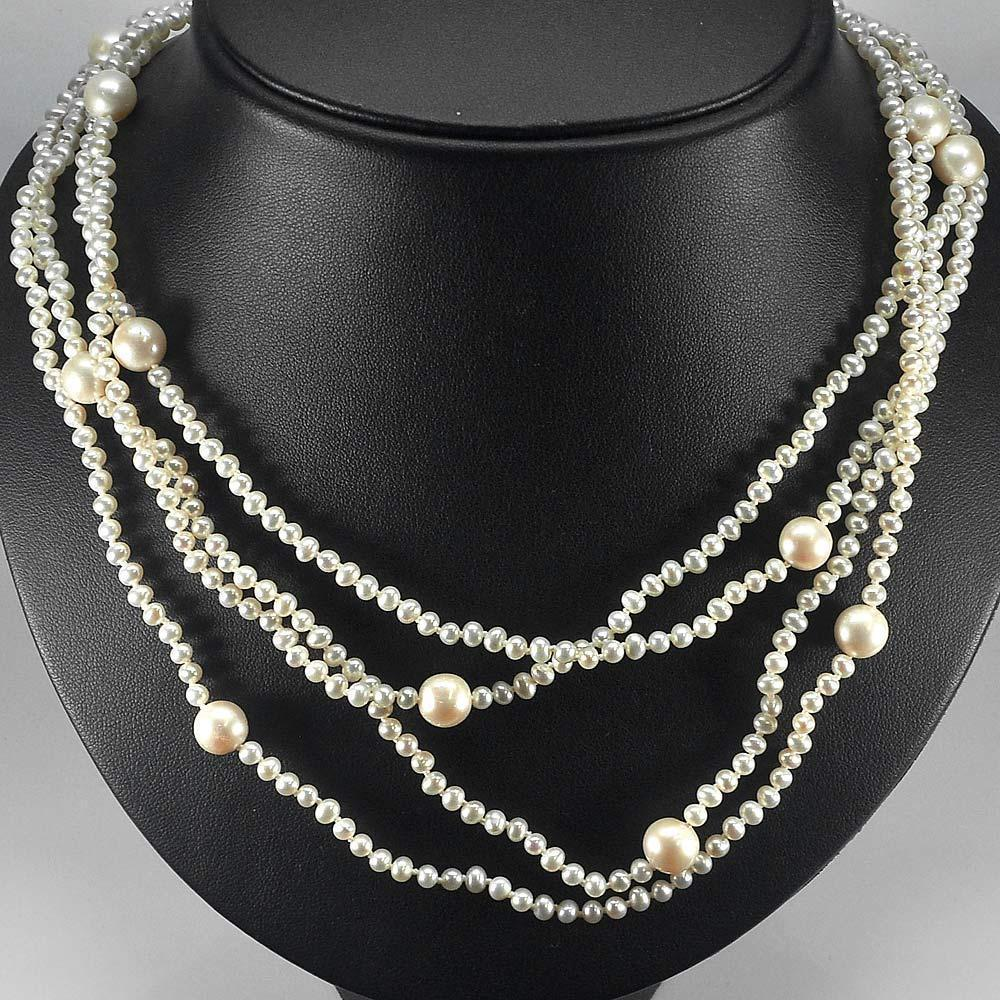 238.20 Ct. Sublime Natural White Pearl Strands 78 Inch