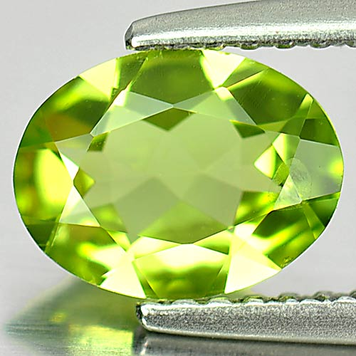 0.96 Ct. Oval Shape Natural Gemstone Green Color Peridot Unheated