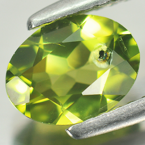 1.21 Ct. 7.8 x 6 Mm. Oval Shape Natural Gem Green Peridot Unheated