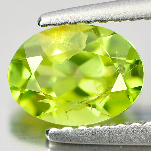 1.21 Ct. Nice Oval Natural Gemstone Green Peridot Unheated