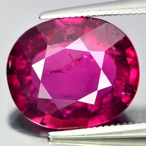 Top Color 6.20 Ct. Oval Natural Purplish Pink Rubellite