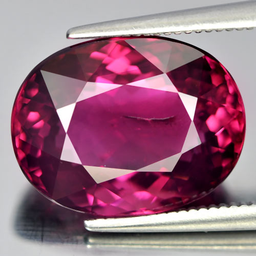 7.79 Ct. Oval Shape Natural Pink Rubellite Gemstone Unheated