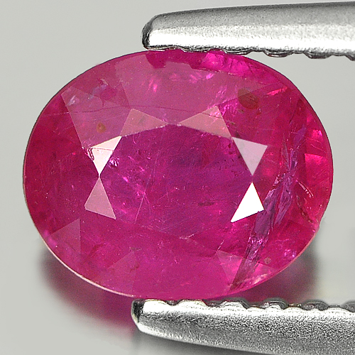 Unheated 0.87 Ct. Oval Natural Purplish Pink Ruby Gem