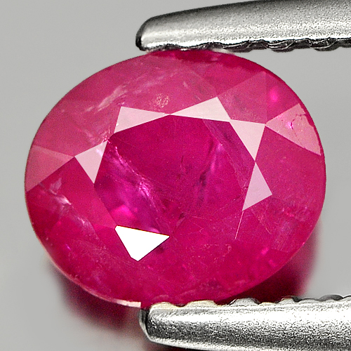 0.82 Ct. Oval Natural Purplish Pink Ruby Tanzania Gem