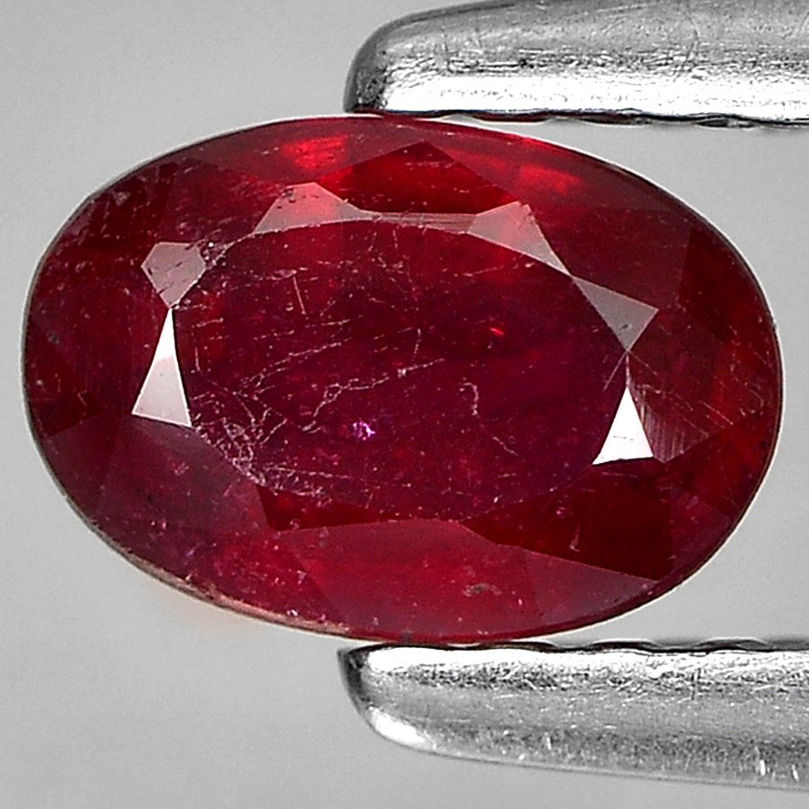 0.65 Ct. Lovely Oval Shape Natural Gem Purplish Red Ruby From Madagascar