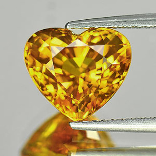 Certified 4.33 Ct. Clean Natural Gemstone Yellow Sapphire Heart Shape