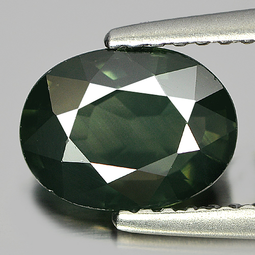 1.82 Ct. Clean Natural Oval Shape Bluish Green Sapphire Gemstone