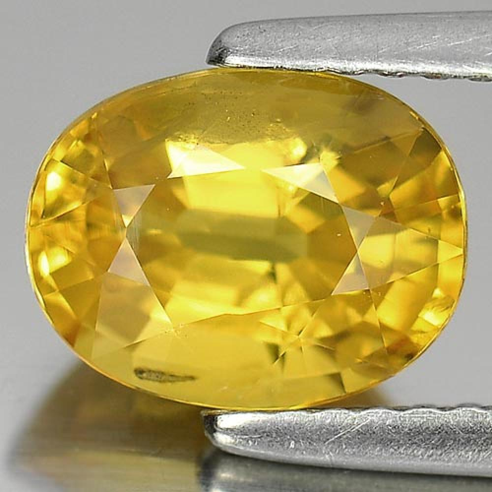 2.33 Ct. Lively Oval Shape Natural Yellow Sapphire Gemstone Thailand