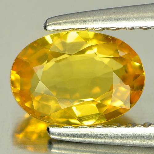 1.07 Ct. Stunning Natural Yellow Sapphire Gemstone Oval Shape