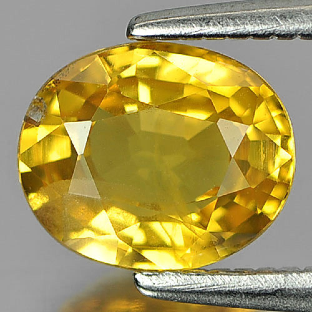 1.33 Ct. Natural Gemstone Yellow Color Sapphire Oval Shape