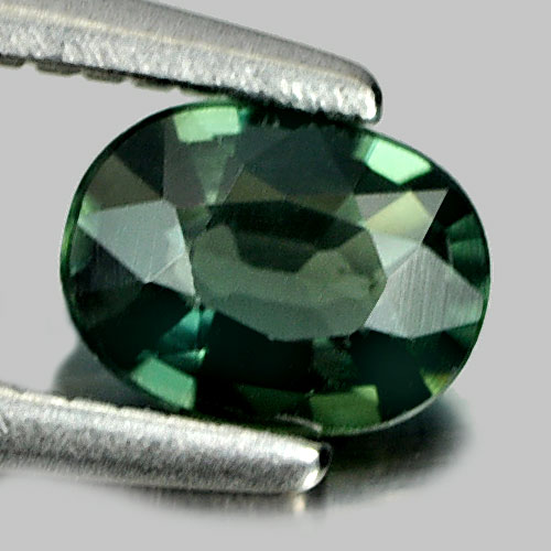 0.37 Ct. Attractive Oval Natural Gemstone Green Sapphire Thailand
