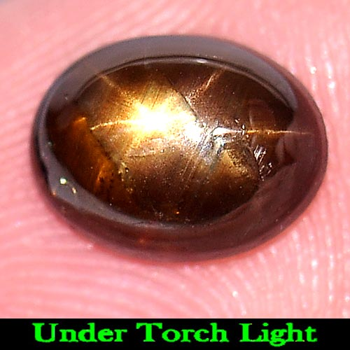 2.16 Ct. Oval Cabochon Natural Gem 6 Rays Golden Star Sapphire Thailand