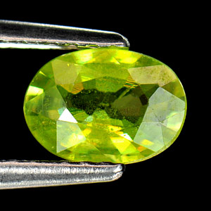 0.67 Ct. Natural Intense Green Sphene With Rainbow Spark