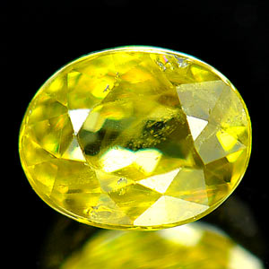0.67 Ct Natural Intense Green Titanium Sphene Red Spark
