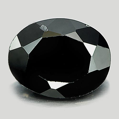 Unheated 1.79 Ct. Charming Oval Shape Natural Gem Black Spinel