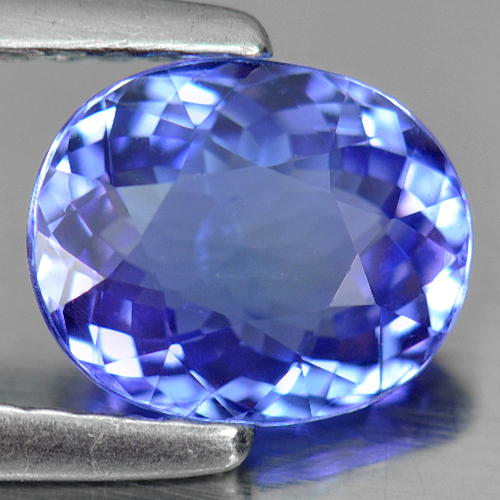 Certified 1.47Ct. Oval Natural Violetish Blue Tanzanite