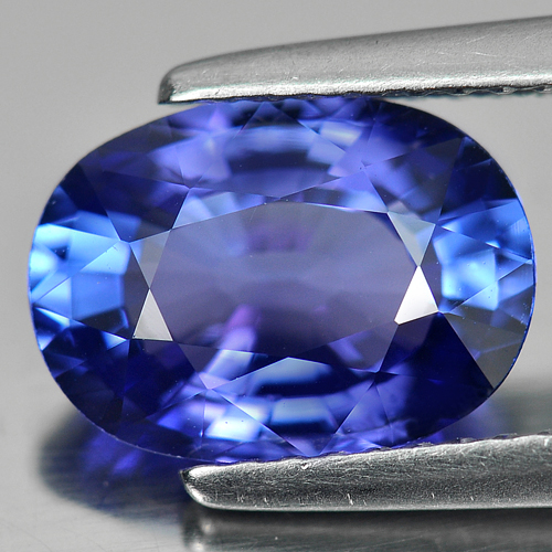 Certified 2.58 Ct. Clean Natural Violetish Blue Tanzanite Oval Shape Gem