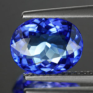 Certified 3.03 Ct. Clean Natural Oval Violetish Blue Tanzanite