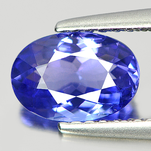 Certified 1.23 Ct. Clean Natural Oval Violetish Blue Tanzanite Gem