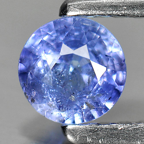 0.34 Ct. Round Shape Natural Violetish Blue Tanzanite