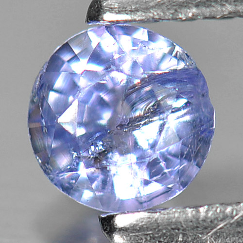 0.29 Ct. Round Shape Natural Violetish Blue Tanzanite