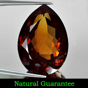Certified 62.02 Ct. Clean Pear Natural Imperial Topaz Unheated