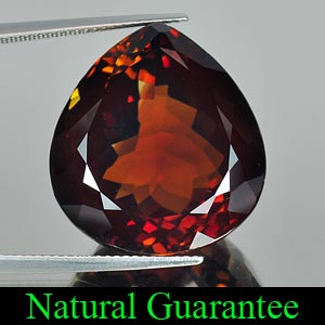 Certified 46.02 Ct. Pear Natural Imperial Topaz Brazil