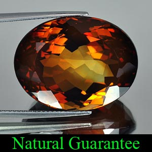 Certified 50.16 Ct. Oval Natural Imperial Topaz Gem