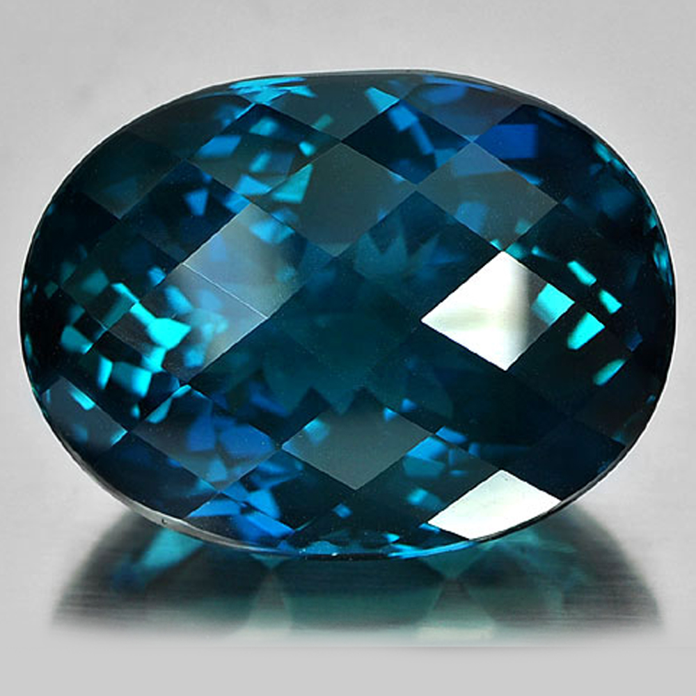 Clean Natural Gemstone 113.01 Ct. Oval Checkerboard London Blue Topaz