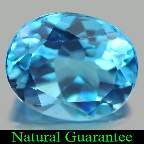 Calibrate Size 4.65 Ct. Oval Shape Swiss Natural Gem Blue Topaz Brazil