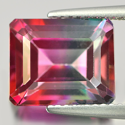 6.20 Ct. Octagon Shape Natural Emerald Envy Pure Pink Topaz Gem