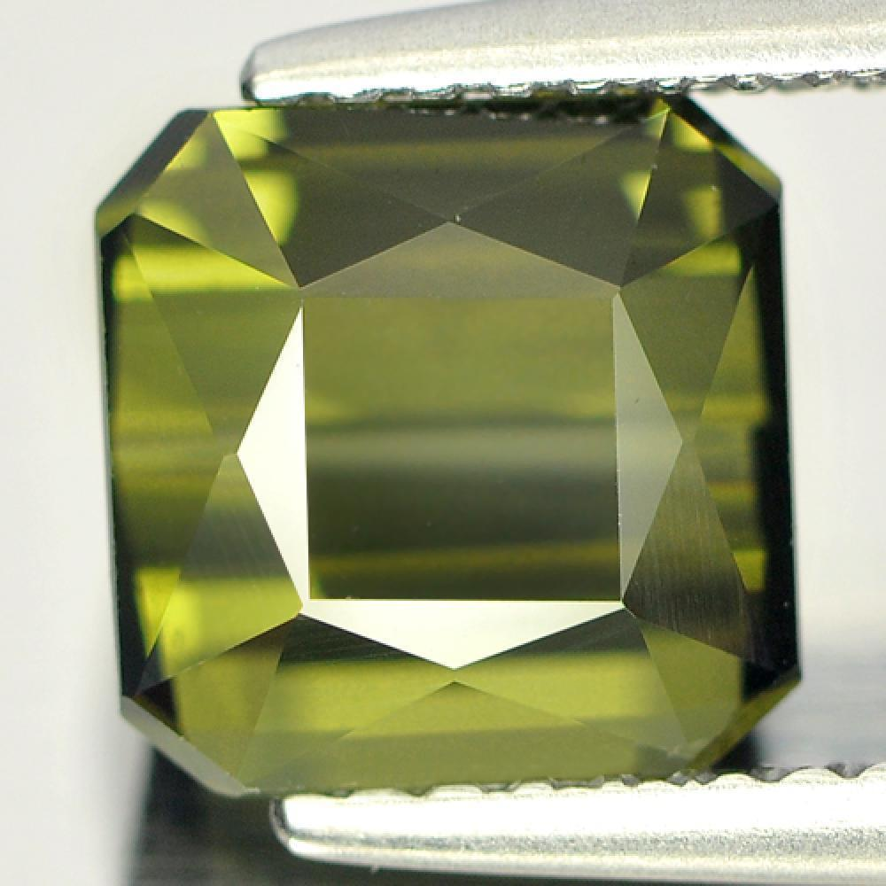 2.70 Ct. Octagon Natural Lime Green Tourmaline Nigeria