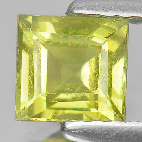 Unheated 0.82 Ct. Square Shape Natural Gemstone Lime Green Tourmaline