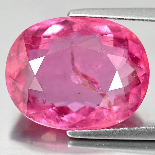 Unheated 14.10 Ct. Oval Natural Pink Tourmaline Nigeria