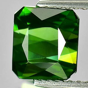 Natural Gem 100% 1.86 Ct. Octagon Shape Green Tourmaline Unheated