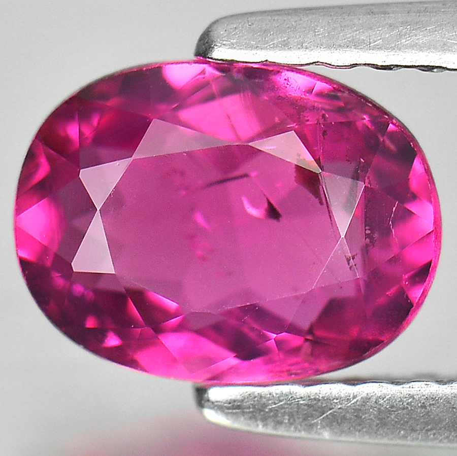 Pink Tourmaline 1.18 Ct. Oval Shape 8.2 x 6.2 Mm. Natural Unheated Gem Nigeria