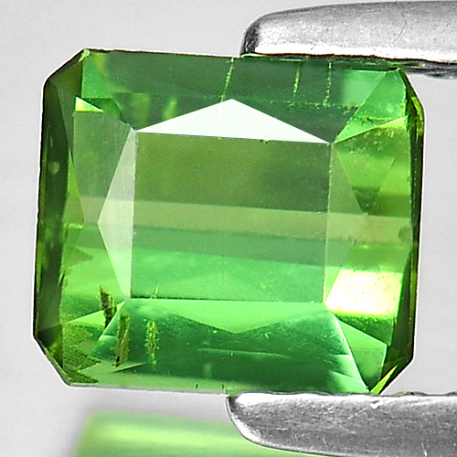 1.00 Ct. Octagon Shape Natural Green Tourmaline Gemstone From Nigeria