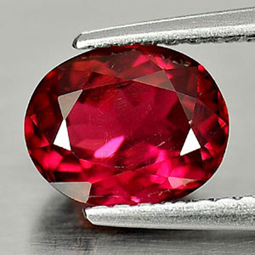 Tourmaline Purplish Pink 1.39 Ct. VVS Natural Gemstone Oval Shape 7.7 x 6.1 Mm.