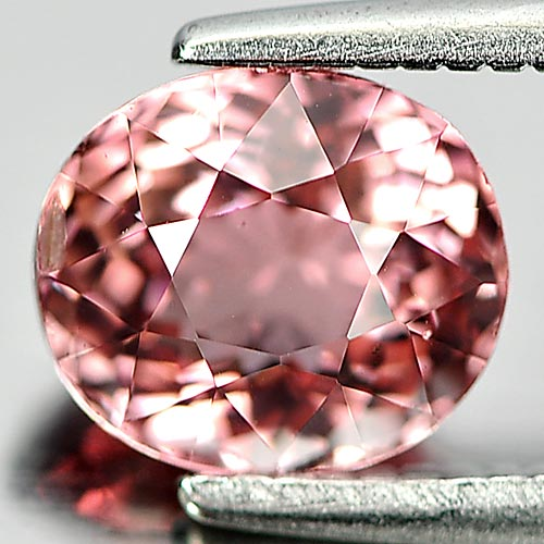 Beautiful Gem 1.23 Ct. Oval Natural Peach Pink Tourmaline