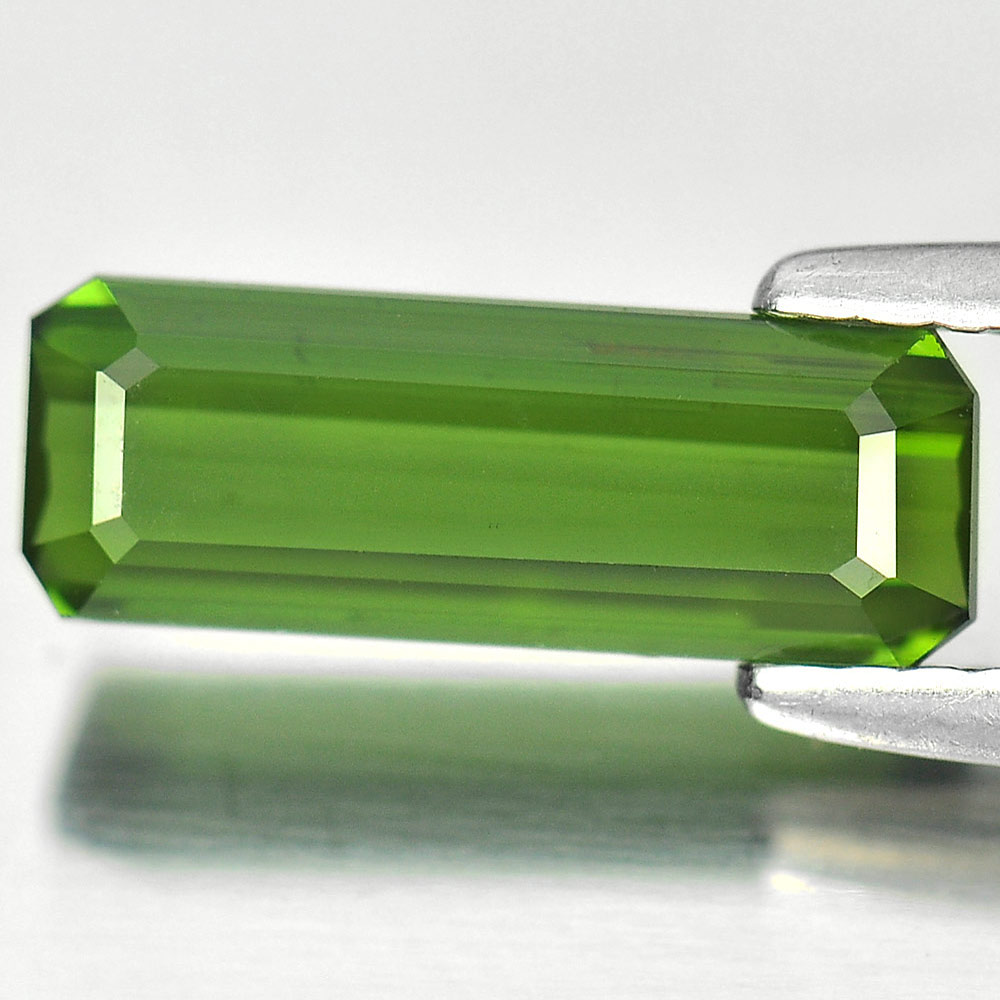 1.34 Ct. Good Color Octagon Natural Gemstone Green Tourmaline Nigeria